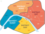 Carte districts